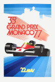 Monaco Grand Prix 1977 Collectable Print by Roland Hugon