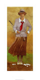 Vintage Woman Golfer Prints by Bart Forbes
