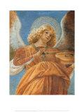 Engel mit Violine Kunstdrucke von  Melozzo da Forlí