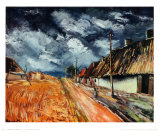 Red Field Poster by Maurice de Vlaminck