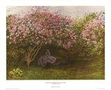 Rast unter Flieder Poster von Claude Monet