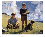 Two Boys Print by Frank Weston Benson