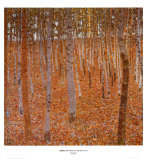 Gustav Klimt - Beechwood Forest, 1903 Reprodukce