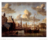 The Port of Amsterdam Prints by Abraham Storck