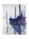 Gondolas Prints by Claude Monet