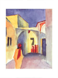 View on an Alley Kunst af Auguste Macke