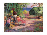 Woman Sewing Poster by Henri Lebasque