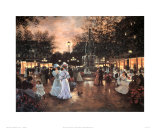 Meeting at the Fountain Posters af Christa Kieffer