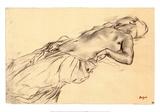 Nu couché Posters par Edgar Degas