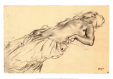 Lying Nude Prints by Edgar Degas