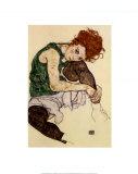 Kunstnerens kone Posters av Egon Schiele