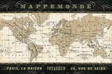 Mappemonde Prints by  Pela