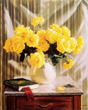 Yellow Roses Print by Robin Anderson