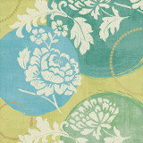 Floral Decal Turquoise I Posters by Veronique Charron