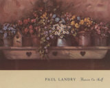 Flowers on Shelf Print by Paul Landry
