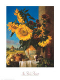 Sunflowers and Pigeonnier Prints by Joe Anna Arnett