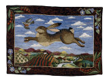 Le lièvre volant Affiches par Jan Gassner