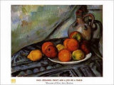 Fruit and a Jug on a Table Prints by Paul Cézanne