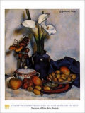 Stillleben mit Aronstäben und Früchten Poster von Stanton Macdonald-Wright