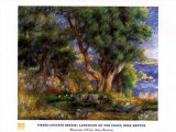 Landscape on the Coast Near Menton Posters by Pierre-Auguste Renoir