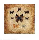 Papillons 1 Kunstdrucke von Claudette Beauvais