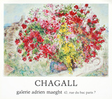 Jardins de St-Paul, 1973 Reproduction pour collectionneurs par Marc Chagall