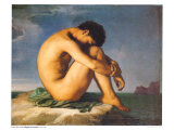 Young Male Nude, 1855 Posters af Hippolyte Flandrin