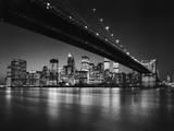 Nueva York, Nueva York, silueta de Manhattan Póster por Henri Silberman