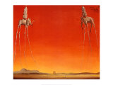 De olifanten, ca.1948 Poster van Salvador Dalí