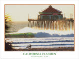 Huntington Beach Pier Poster by Dennis Junor