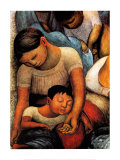 La Noche de Los Pobres Affiches par Diego Rivera