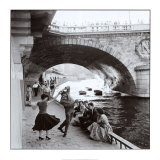 Rock &#39;n Roll sur les quais de Paris Posters par Paul Almasy