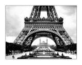 La torre Eiffel y el viejo trocadero Pósters