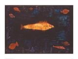 Der goldene Fisch Giclée-Druck von Paul Klee