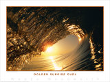 Golden Sunrise Curl Art by Woody Woodworth