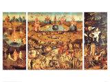 Lustarnas trädgård, ca 1504 Planscher av Hieronymus Bosch