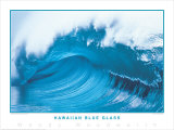 Hawaiian Blue Glass Print by Woody Woodworth