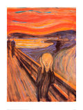 Huuto, n. 1893 Juliste tekijänä Edvard Munch