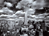 New York, New York, Sky Over Manhattan Poster by Henri Silberman