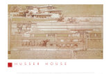 Joseph Husser House Prints by Frank Lloyd Wright
