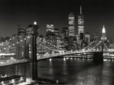 New York, New York, Brooklyn Bridge Print van Henri Silberman