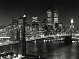 Puente de Brooklyn, Nueva York Lámina por Henri Silberman