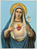 Sagrado corazón de María Póster
