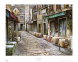 Rue des Cafes Posters by Mark St. John