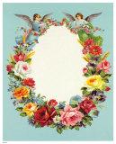 Blumenkranz mit Engeln Posters