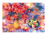 Fruit with Tiger Lilies Posters by Mae Book