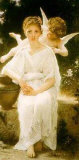 Young Lady with Angel Posters by William Adolphe Bouguereau