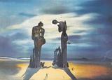 Réminiscence archéologique de l'Angélus de Millet Poster par Salvador Dalí
