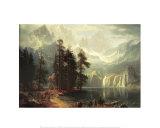 Sierra Nevada i Californien Plakater af Albert Bierstadt