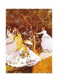 Femmes Dans un Jardin Posters by Claude Monet